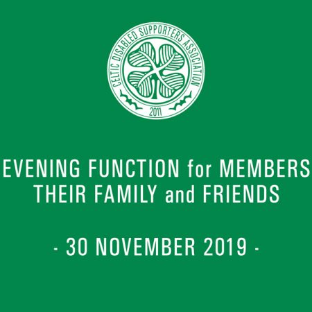 image advertising Celtic DSA evening function 30 November 2019